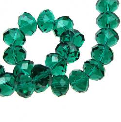 Наниз мъниста кристал 12x8 мм дупка 1 мм прозрачен TEAL ~72 броя