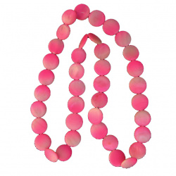 Гердан пластмаса кръг 2 мм розов 38 см