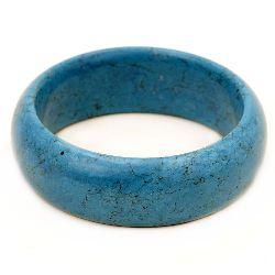 Гривна естествен камък ТЮРКОАЗ синтетичен син 67 мм