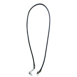 Гердан от памучен шнур цвят черен Корея 1.5 мм 45 см