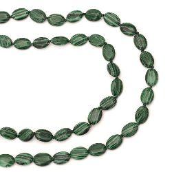 Гердан естествен камък МАЛАХИТ 10x14x6 мм -60 см