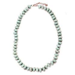 Гердан естествен камък ТЮРКОАЗ СИНТЕТИЧЕН 12x6 мм 25 см