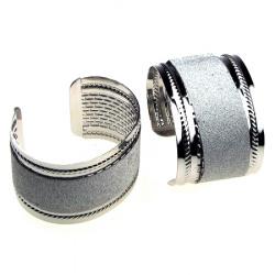 Гривна метал цвят сребро брокат 65 мм