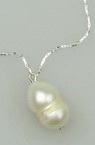 Гердан метал естествена перла 21 см