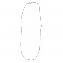 Синджир цвят сребро 2 мм 22-23 см