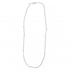 Синджир цвят бял 2 мм 22-23 см