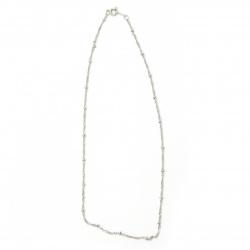Lanț argintiu 2 mm 20-22 cm
