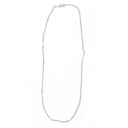 Синджир цвят бял 2 мм 20-22 см