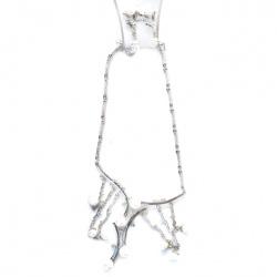 Комплект гердан обеци метал кристал пластмаса