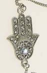Гривна метал кристали ръката на Фатима 35 мм
