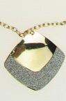 Комплект гердан обеци метал брокат