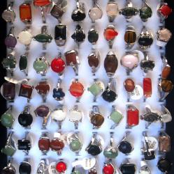 Пръстен метал естествен камък
