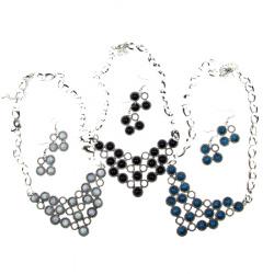 Комплект гердан обеци метал пластмаса
