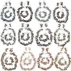 Комплект гердан гривна обеци естествен камък метал АСОРТЕ