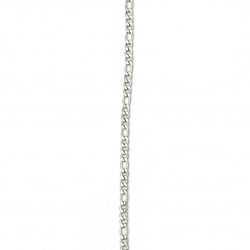 Lanț din oțel inoxidabil 316L 600x3 mm argintiu