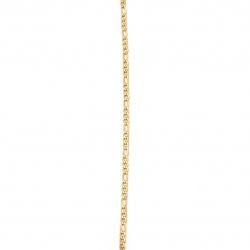 Lanț din oțel inoxidabil 316L 600x3 mm culoare aur