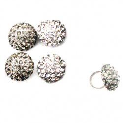 Пръстен метал кристали