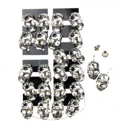 Обеци метал кристали