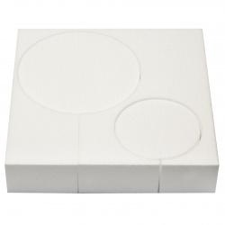 Торта стиропор 3 пласта 10x5 см, 15x5 см, 20x5 см