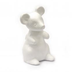 Мишка стиропор 130 мм -1 брой