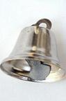 Камбанка метал 24х26 мм дупка 3 мм цвят сребро -10 броя