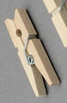 Wooden Clothespins 6x35 mm color wood -25 pieces
