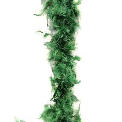 Green Marabou Feather Scarf - 180 cm