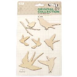 Wooden Embellishment Tree-birds decoration set