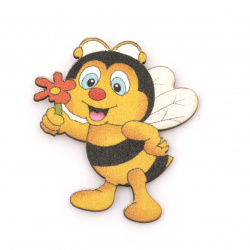 Wooned Bee with adhesive tape 40x36 mm - 10 pieces