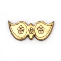 Figura lemn cataramă  21x9x1,5 mm aur -10 bucăți