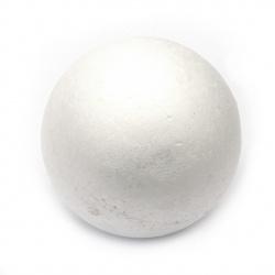 Топче стиропор 120 мм за декорация бяло -1 брой