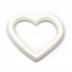 Styrofoam, Heart, hole, 135x125mm, 2 pcs, DIY Craft Decoration