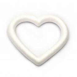 Сърце стиропор с дупка 140x137 мм за декорация -2 броя