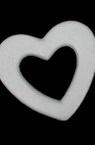 Inimă de poliuretan plat cu gaură de 170x165 mm pentru decorare -1 bucăți