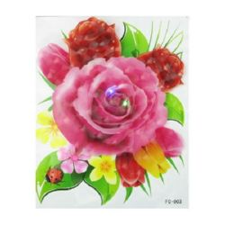 Wall application 3D 20x25 cm flower LIGHT