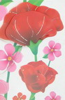Wall Sticker Decoration 3D 35x50 cm FLOWERS luminous