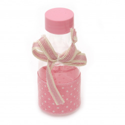 Plastic Bottle for decoration 110x45 mm pink