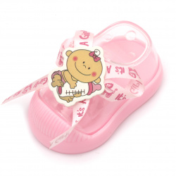 Plastic Baby boot for decoration 90x45 mm pink