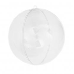 Πλαστική μπάλα κρεμαστή 70 mm διάφανη 2 μέρη- 1 σετ