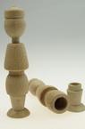 Păpușă din lemn de fag cu gaură 113x26x25 mm KE-1M