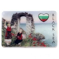 Souvenir Magnet Luminous Ethnic Bulgaria 74x50 mm plastic Dancers