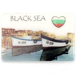 Souvenir Magnet Luminous Ethnic Bulgaria 74x50 mm plastic Boats