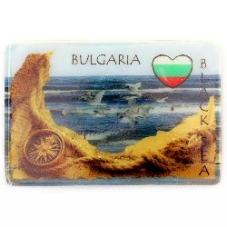 Souvenir Magnet Luminous Ethnic Bulgaria 74x50 mm Black Sea plastic
