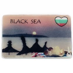 Souvenir Magnet Luminous Ethnic Bulgaria 74x50 mm plastic Sunset