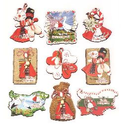 Souvenir festive magnet 70 ~ 80x50 mm MIX