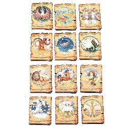 Souvenir magnet 90x65 mm MDF Zodiac Sign, Fridge Gift
