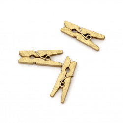 Wooden Decorative Clamps 3x25 mm color gold ± 50 pieces