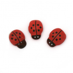 Wooden ladybugs with glue 10x13 mm -100 pieces
