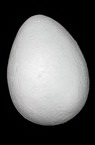 Styrofoam, Egg, White 150x110mm, 1 pcs, Easter Decoration, DIY, Craft