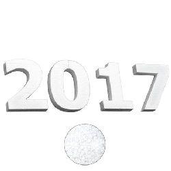 Digits styrofoam 120x22 mm. set - 2017 for decoration - 4 pcs